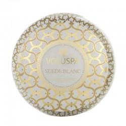 Voluspa - Bougie Parfumée Suède blanc