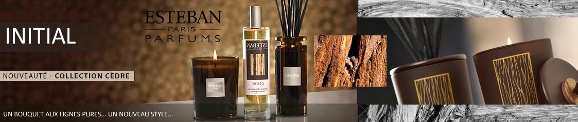 Découvrez le nouveau Bouquet parfumé INITIAL collection Cèdre ESTEBAN PARIS PARFUMS
