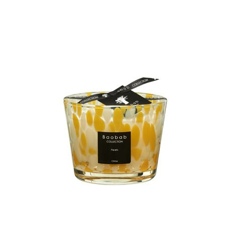 Bougie parfumée Baobab Collection - Max 10 Citrine Pearls