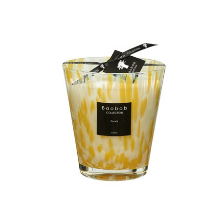 Bougie parfumée Baobab Collection - Max 16 Citrine Pearls