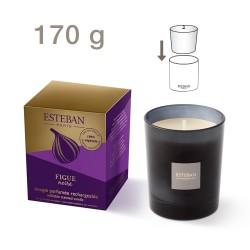 Bougie parfumée rechargeable Figue Noire 170g