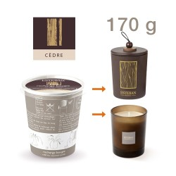Estéban - Recharge pour bougie parfumée Cèdre 170g