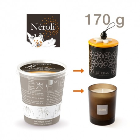 Estéban - Recharge pour bougie parfumée Néroli 170g