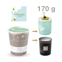 Estéban - Recharge pour bougie parfumée Orchidée blanche 170g