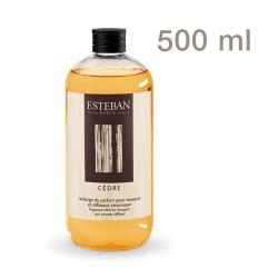 Estéban - Recharge pour bouquet parfumé Cèdre 500 mL
