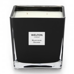 Welton London - Bougie parfumée Onyx Large Majestueuse Orchidée