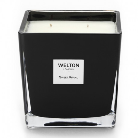 Welton London - Bougie parfumée Onyx Large Sweet Ritual