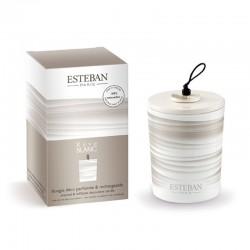 Estéban - Bougie déco rechargeable Rêve Blanc 170g