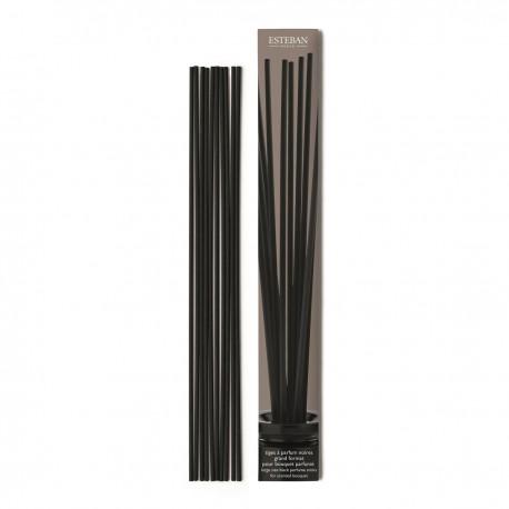 Estéban Paris - Tiges à parfum noires pour Bouquet Parfumé 34cm