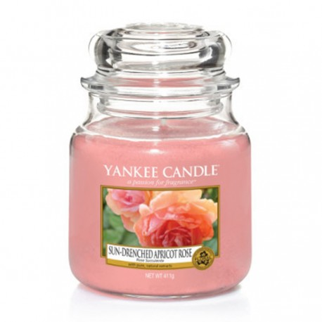 Yankee Candle - Jarre moyenne Sun-drenched apricot rose