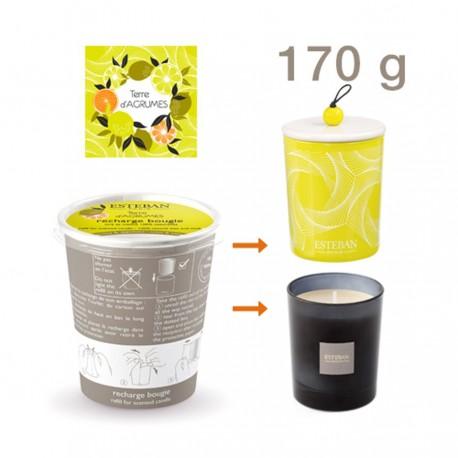 Estéban - Recharge pour bougie parfumée Terre d'Agrumes