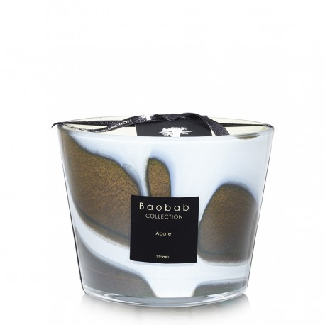 Bougie parfumée Baobab Collection - Max 10 Stones Agate