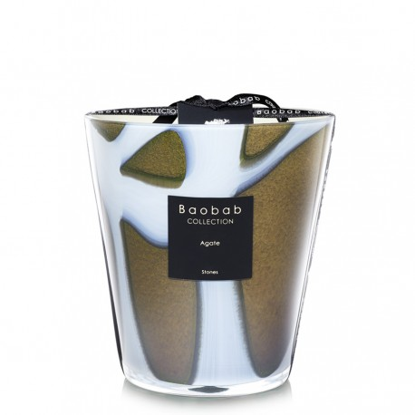 Bougie parfumée Baobab Collection - Maxi 16 Stones Agate