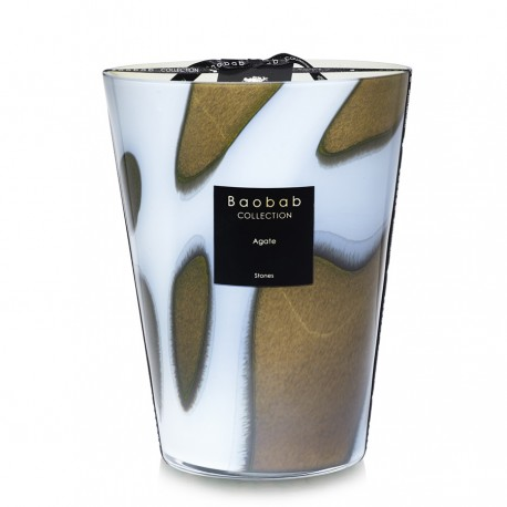 Bougie parfumée Baobab Collection - Maxi 24 Stones Agate