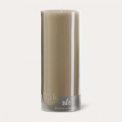 Bougies cylindriques couleur 125H Taupe