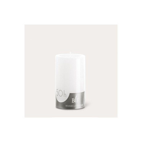 Bougies cylindriques couleur 50H Blanc