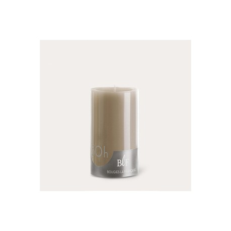 Bougies cylindriques couleur 50H Taupe