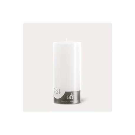 Bougies cylindriques couleur 75H Blanc