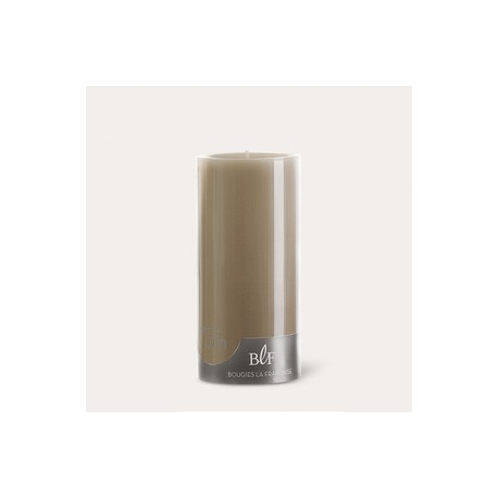 Bougies cylindriques couleur 75H Taupe