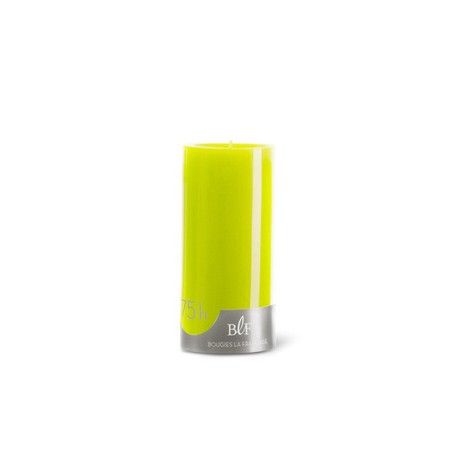 Bougies cylindriques couleur 75H Vert Anis