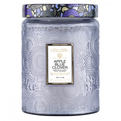 Grande jarre Apple Blue Clover