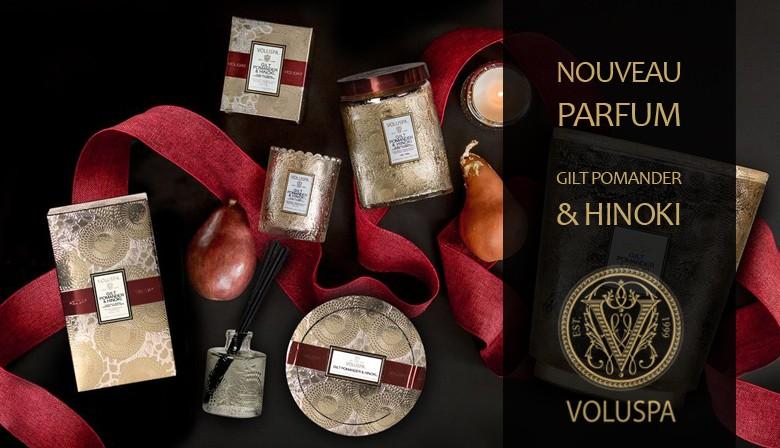 Voluspa - Nouveau parfum Gilt Pomander & Hinoki